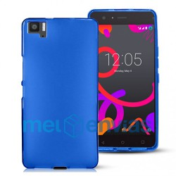 Funda carcasa para BQ Aquaris M5 Gel TPU Liso mate Color Azul