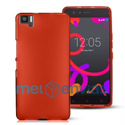Funda carcasa para BQ Aquaris M5 Gel TPU Liso mate Color Rojo