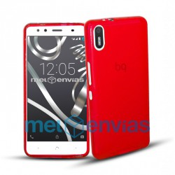 Funda carcasa para BQ Aquaris X5 Gel TPU Liso mate Color Rojo