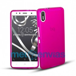 Funda carcasa para BQ Aquaris X5 Gel TPU Liso mate Color Rosa