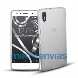 Funda carcasa para BQ Aquaris X5 Gel TPU Liso mate Color Transparente