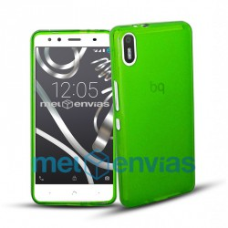 Funda carcasa para BQ Aquaris X5 Gel TPU Liso mate Color Verde