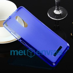 Funda carcasa para Xiaomi Redmi Note 3 Gel TPU Liso mate Color Azul