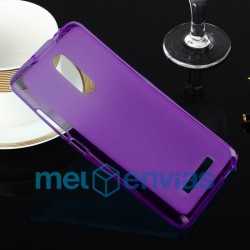 Funda carcasa para Xiaomi Redmi Note 3 Gel TPU Liso mate Color Morado