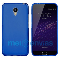 Funda carcasa para Meizu M2 Note Gel TPU Liso mate Color Azul