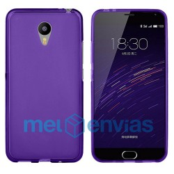 Funda carcasa para Meizu M2 Note Gel TPU Liso mate Color Morado