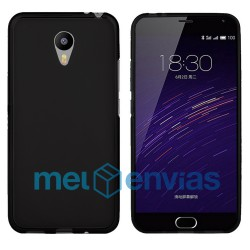 Funda carcasa para Meizu M2 Note Gel TPU Liso mate Color Negro