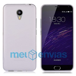 Funda carcasa para Meizu M2 Note Gel TPU Liso mate Color Transparente