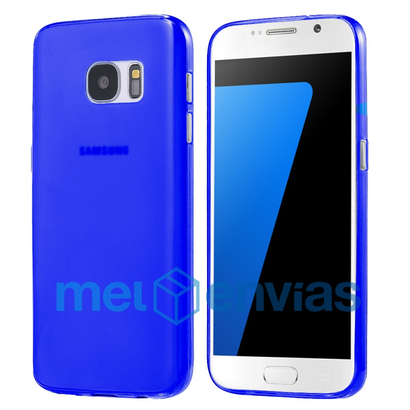 ec2997dce94 Funda carcasa para Samsung Galaxy S7 Edge SM-G935 Gel TPU Liso mate Color  Azul. Loading zoom