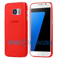 Funda carcasa para Samsung Galaxy S7 Edge SM-G935 Gel TPU Liso mate Color Rojo