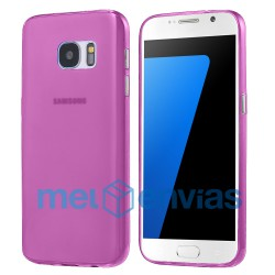 Funda carcasa para Samsung Galaxy S7 Edge SM-G935 Gel TPU Liso mate Color Rosa