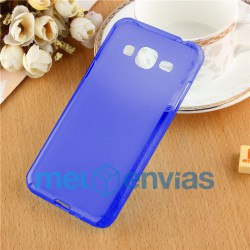 Funda carcasa para Samsung Galaxy J3 Gel TPU Liso mate Color Azul