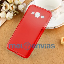 Funda carcasa para Samsung Galaxy J3 Gel TPU Liso mate Color Rojo