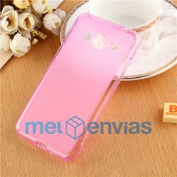 Funda carcasa para Samsung Galaxy J3 Gel TPU Liso mate Color Rosa