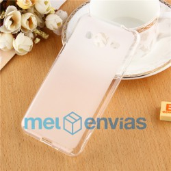 Funda carcasa para Samsung Galaxy J3 Gel TPU Liso mate Color Transparente