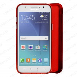 Funda carcasa para Samsung Galaxy J5 (2016) Gel TPU Liso mate Color Rojo
