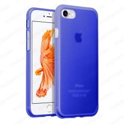"Funda carcasa para iPhone 7 4.7"" Gel TPU Liso mate Color Azul"