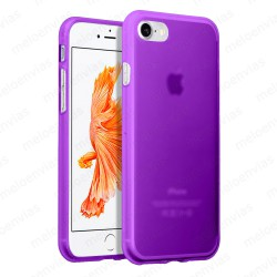 "Funda carcasa para iPhone 7 4.7"" Gel TPU Liso mate Color Morado"