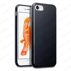 "Funda carcasa para iPhone 7 4.7"" Gel TPU Liso mate Color Negro"