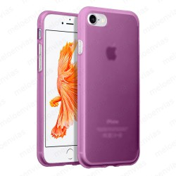 "Funda carcasa para iPhone 7 4.7"" Gel TPU Liso mate Color Rosa"