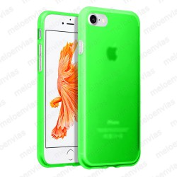 "Funda carcasa para iPhone 7 4.7"" Gel TPU Liso mate Color Verde"