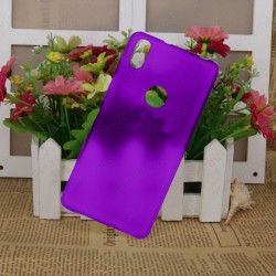 Funda carcasa para BQ Aquaris X5 Plus Gel TPU Liso mate Color Morado