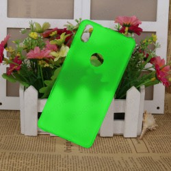 Funda carcasa para BQ Aquaris X5 Plus Gel TPU Liso mate Color Verde
