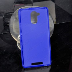 Funda carcasa para BQ Aquaris U Plus Gel TPU Liso mate Color Azul