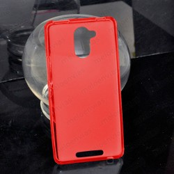 Funda carcasa para BQ Aquaris U Plus Gel TPU Liso mate Color Rojo