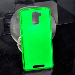 Funda carcasa para BQ Aquaris U Plus Gel TPU Liso mate Color Verde