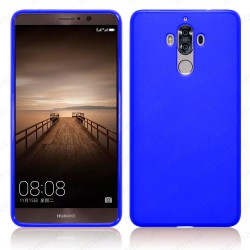 Funda carcasa para Huawei Mate 9 Gel TPU Liso mate Color Azul