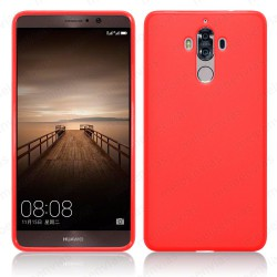 Funda carcasa para Huawei Mate 9 Gel TPU Liso mate Color Rojo