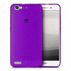 Funda carcasa para Huawei P8 Lite Smart Gel TPU Liso mate Color Morado