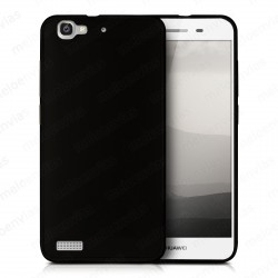 Funda carcasa para Huawei P8 Lite Smart Gel TPU Liso mate Color Negro