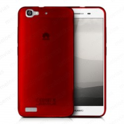 Funda carcasa para Huawei P8 Lite Smart Gel TPU Liso mate Color Rojo