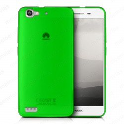 Funda carcasa para Huawei P8 Lite Smart Gel TPU Liso mate Color Verde