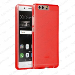 Funda carcasa para Huawei P10 Plus Gel TPU Liso mate Color Rojo