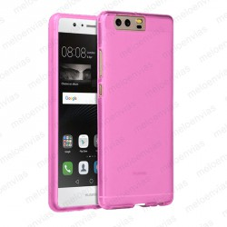 Funda carcasa para Huawei P10 Plus Gel TPU Liso mate Color Rosa