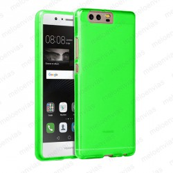 Funda carcasa para Huawei P10 Plus Gel TPU Liso mate Color Verde