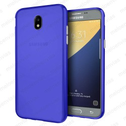 Funda carcasa para Samsung Galaxy J7 2017 Gel TPU Liso mate Color Azul