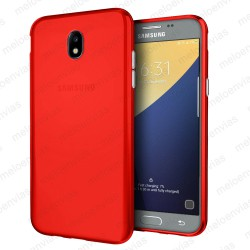 Funda carcasa para Samsung Galaxy J7 2017 Gel TPU Liso mate Color Rojo