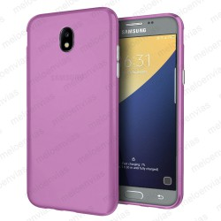 Funda carcasa para Samsung Galaxy J5 2017 Gel TPU Liso mate Color Rosa
