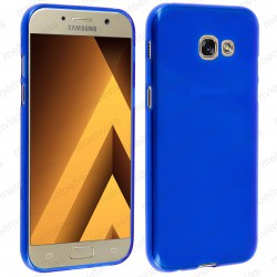 Funda para Samsung Galaxy A3 2017 carcasa Gel TPU Liso mate Color Azul