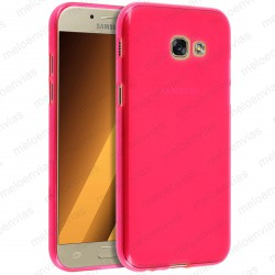 Funda para Samsung Galaxy A3 2017 carcasa Gel TPU Liso mate Color Rosa