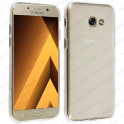 Funda para Samsung Galaxy A3 2017 carcasa Gel TPU Liso mate Color Transparente