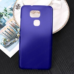 Funda para BQ Aquaris V carcasa Gel TPU Liso mate Color Azul