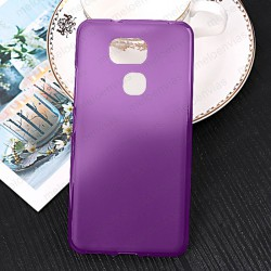 Funda para BQ Aquaris V Plus carcasa Gel TPU Liso mate Color Morado