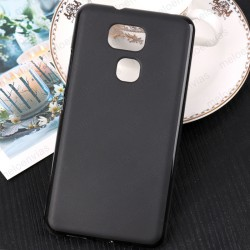 Funda para BQ Aquaris V Plus carcasa Gel TPU Liso mate Color Negro