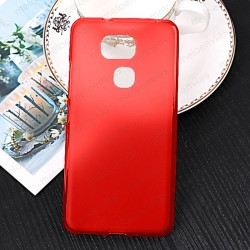 Funda para BQ Aquaris V Plus carcasa Gel TPU Liso mate Color Rojo