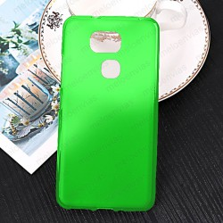 Funda para BQ Aquaris V Plus carcasa Gel TPU Liso mate Color Verde